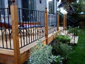 Design For Metal Deck Railings Ideas Iron Deck Railing Systems Ideas Designs Styles Options