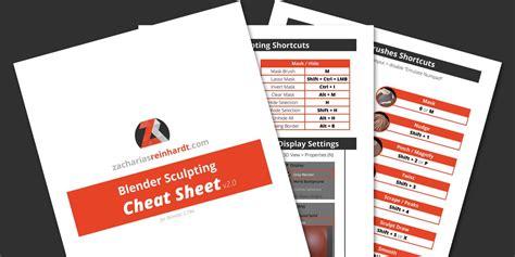 blender tutorial deutsch pdf blender sculpting cheat sheet zacharias reinhardt 3d