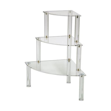 Buy Corner Shelf by Three Tier Acrylic Corner Shelf Buy Acrylic Displays