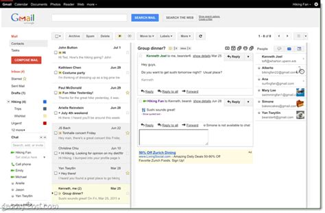 gmail themes preview gmail labs a new reading pane just like outlook