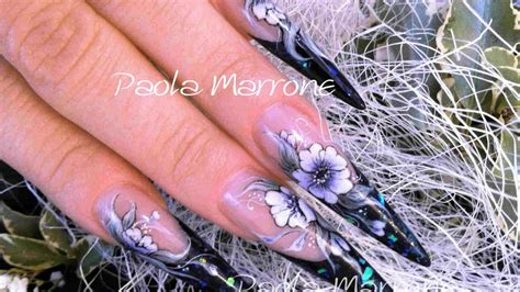 nail acrilico fiori marrone nail arts archivi paolamarrone it nail