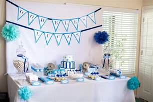 Baptism Decoration Ideas Christening Party Decorations For A Baby Boy Party