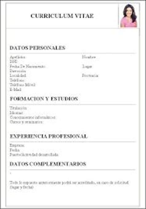 Descargar Plantilla De Curriculum Vitae Basico Experiencia 1000 Ideas About Descargar Curriculum Vitae On