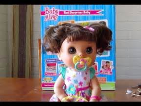 Baby alive real surprises baby doll unboxing youtube