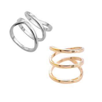 Ready Cincin Midi Spiral 3 shop gold spiral ring on wanelo