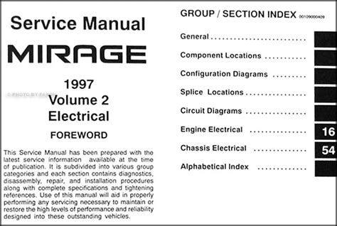 service manual manual repair autos 1997 mitsubishi mirage electronic toll collection service 1997 mitsubishi mirage repair shop manual set original