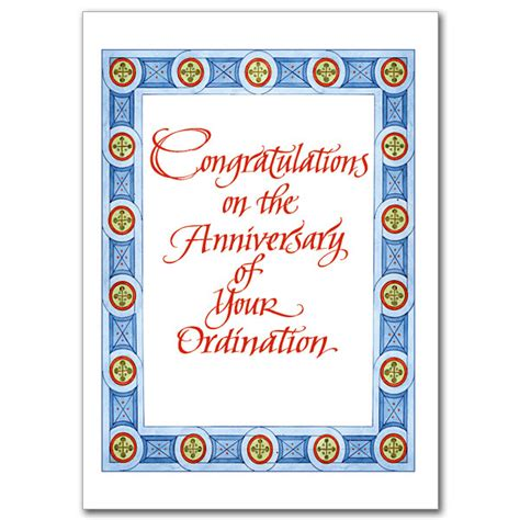 Free Printable Ordination Anniversary Cards | congratulations on the anniversary of your ordination