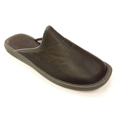 mule slipper 188 ohio black leather mule slipper