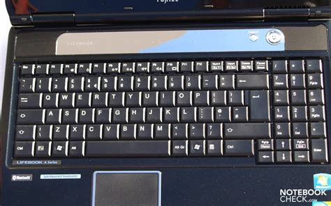 Keyboard Laptop Fujitsu review fujitsu lifebook ah550 notebook notebookcheck net reviews
