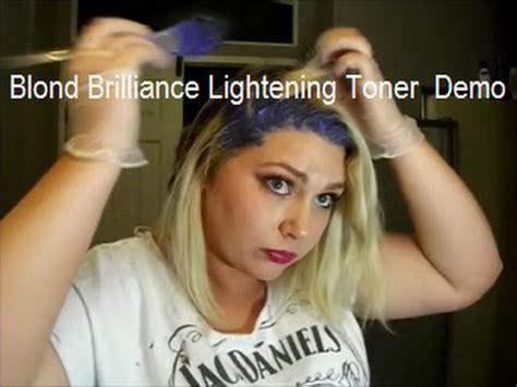 how to use blonde brilliance toner blond brilliance lightening toner demo bengal tube