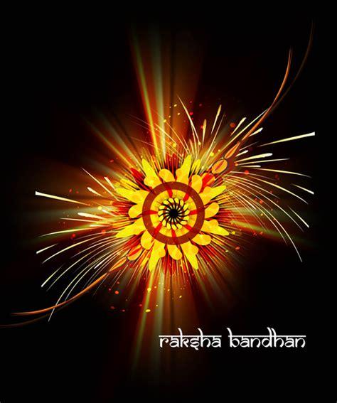 raksha bandhan card template beautiful rakhi indian festival background vector free