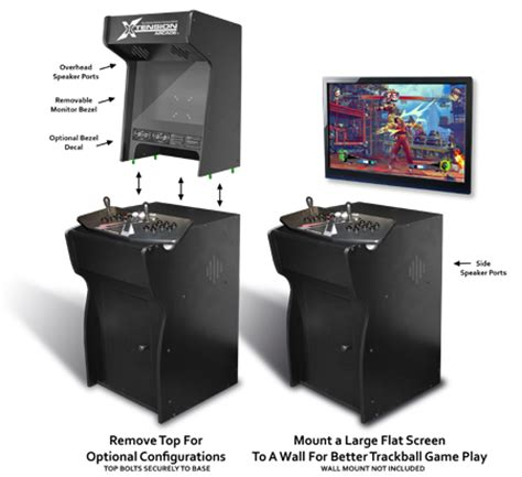 xtension arcade cabinet fits x arcade dual stick ebay