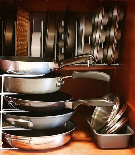 Kitchen Pan Storage Ideas Cool Kitchen Pots And Pans Storage Ideas Kitchen Ideas Pinterest