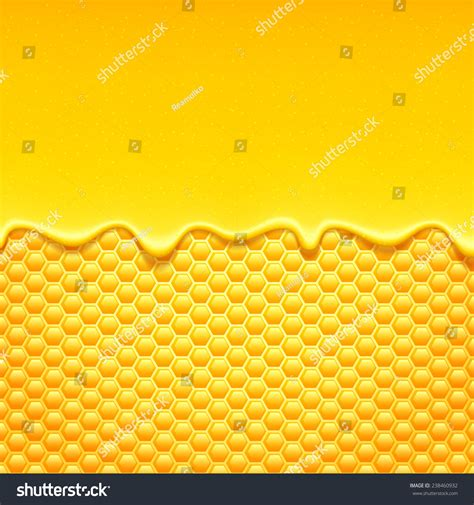Ransel 3d Glossy Sweet Honey 1 glossy yellow pattern with honeycomb and sweet honey drips sweet background stock photo