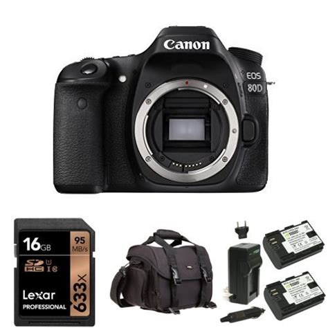 Memory Slr canon eos 80d digital slr bundle with 16gb memory card bag and batteries
