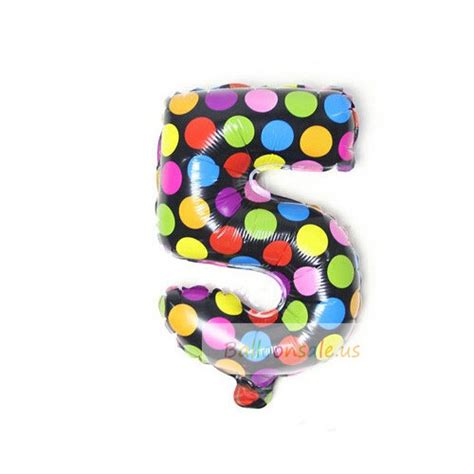 Sale Balon Polkadot Stik cheap black foil numbers balloons rainbow polka dots numbers foil balloons for sale on