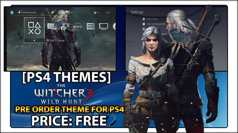 ps4 themes not working ps4 theme geralt and ciri youtube