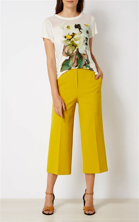 Cropped Wide Leg Trousers cropped wide leg trousers millen