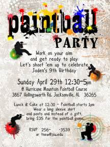 paintball birthday invitation digital file to print for boy
