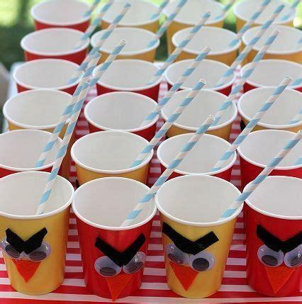 decorar vasos de plastico para cumpleaños decorar vasos de angry birds manualidades para cumplea 241 os
