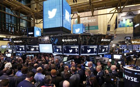 Stock Market Floor by Twtr Photos From The Nyse As Goes