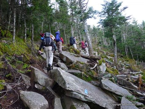 backpacking kinsman and the cannon balls section hikers