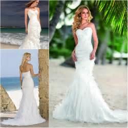 Mermaid beach wedding dresses beaded summer bridal dresses hot jpg