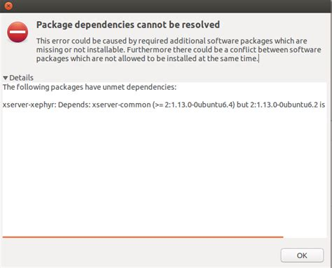 how to install xserver ubuntu installation problems downloading the packages xserver