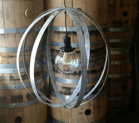 Whiskey Barrel Ring Chandelier Light Fixture Barrel Light Fixtures