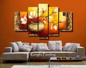 wall decoration with wallpapers paintings and