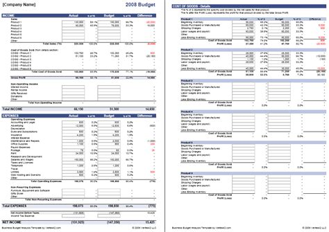 Excel Business Budget Template by Business Budget Template For Excel Budget Your Business