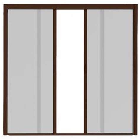 retractable screen 72 door visiscreen 72 in x 84 in vs1 brownstone retractable