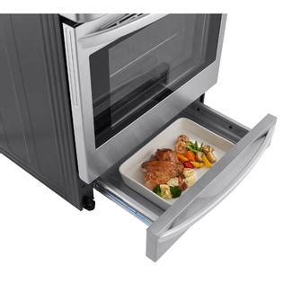 gas wall oven with warming drawer lg lrg4115st 6 3 cu ft gas single oven range w probake