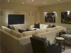 pit sectional contemporary media room