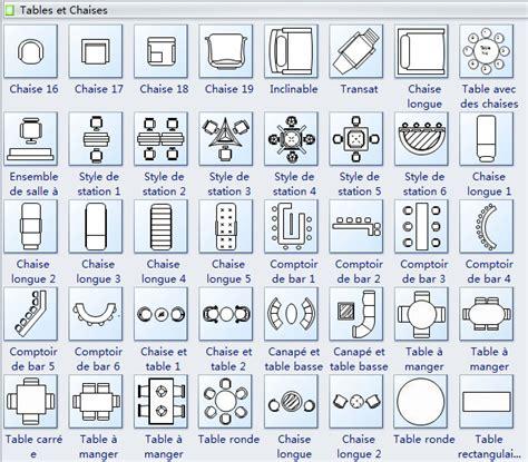 architecture floor plan symbols symboles de plan de maison