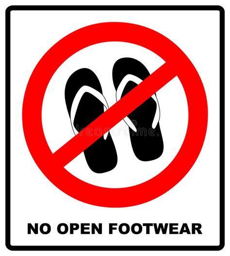 slipper sign sign no sandals no slipper prohibition plane icon on