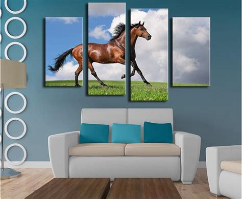 q where to purchase horse wall art home decor wall decor 4 panels horse art large picture frames wall painting