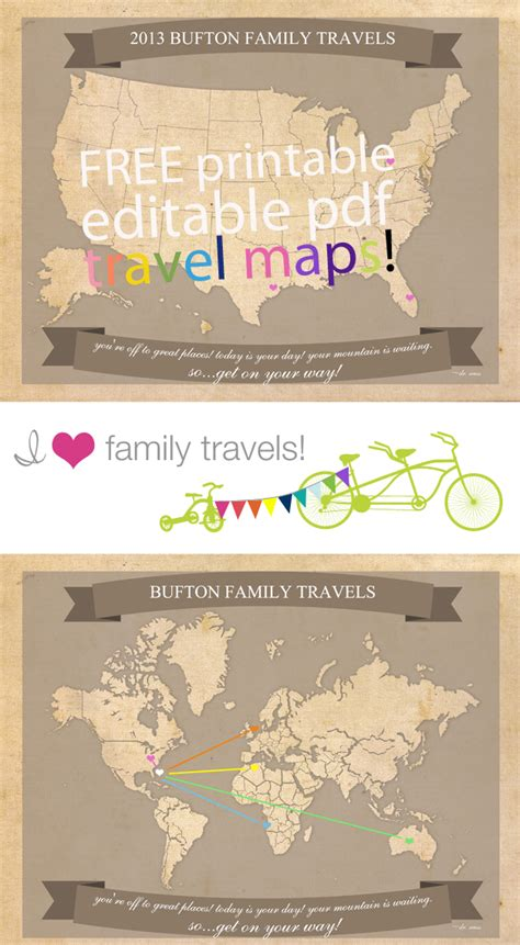 printable maps for crafts free printable family travel maps allcrafts free crafts