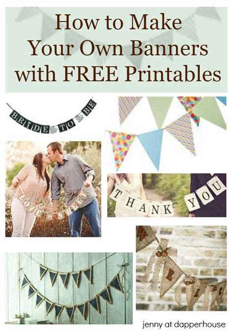 create printable banner online free how to make your own banners with free printables