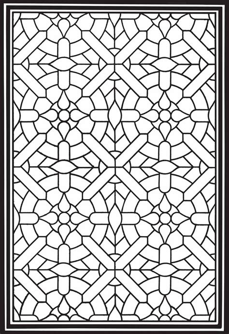 coloring pages of stained glass patterns geometric genius stained glass coloring book stained