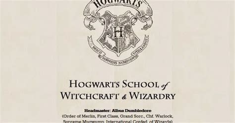 Acceptance Letter For Hogwarts School Of Witchcraft And Wizardry Cats And Crime Join Hogwarts School Of Witchcraft And