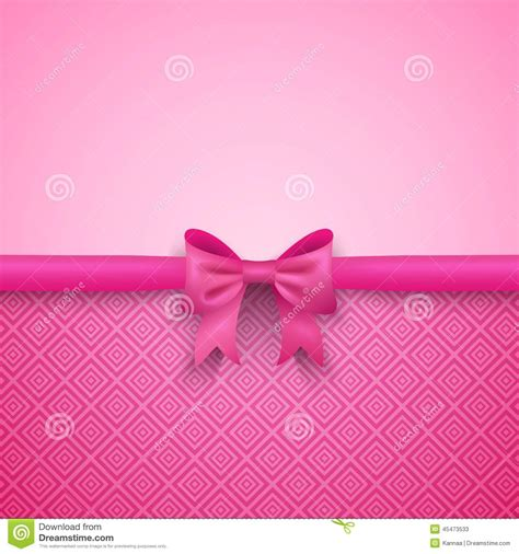 birthday pattern pink vector romantic vector pink background with cute bow and stock