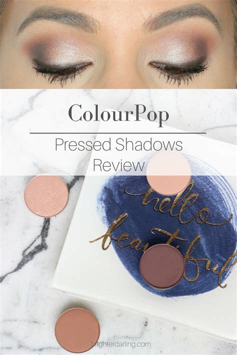 Colourpop Pressed Shadow colourpop pressed powder shadows review brighter