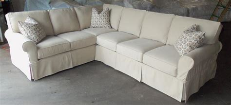slipcover sectional sofa easton slipcover sectional by