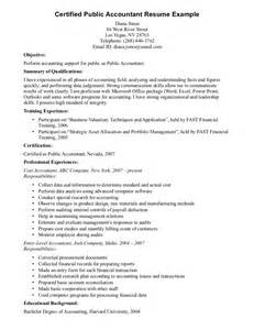 Exle Accounting Resume by Accounting Resume In Ontario Sales Accountant Lewesmr
