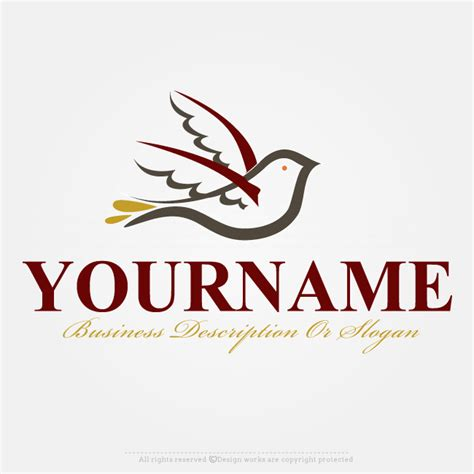 logo maker template free logo maker dove logo design template