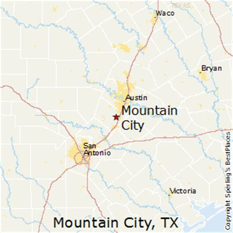mountain texas map best places to live in mountain city texas