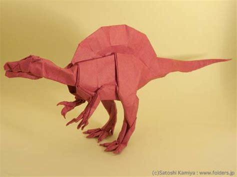 Origami Spinosaurus - origami book tanteidan 17