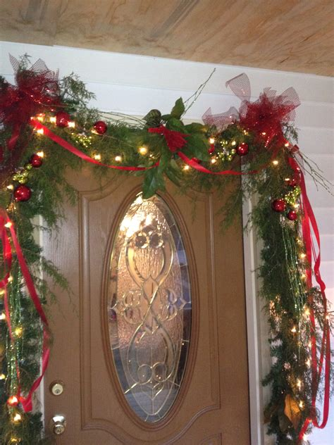 door decorations christmas garland pinterest
