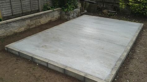 build  concrete shed base  diy guide  laying